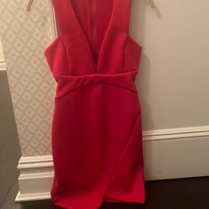 Red BEC + Bridge dress